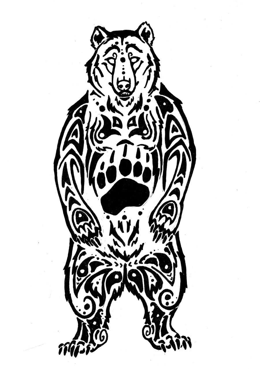 Tribal Bear Face