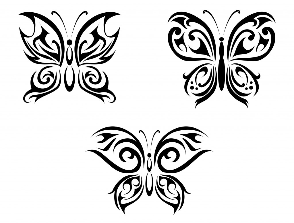 Tribal Butterfly Tattoos Designs Ideas