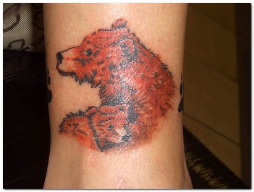 Wolf And Bear Tattoo Design For Men