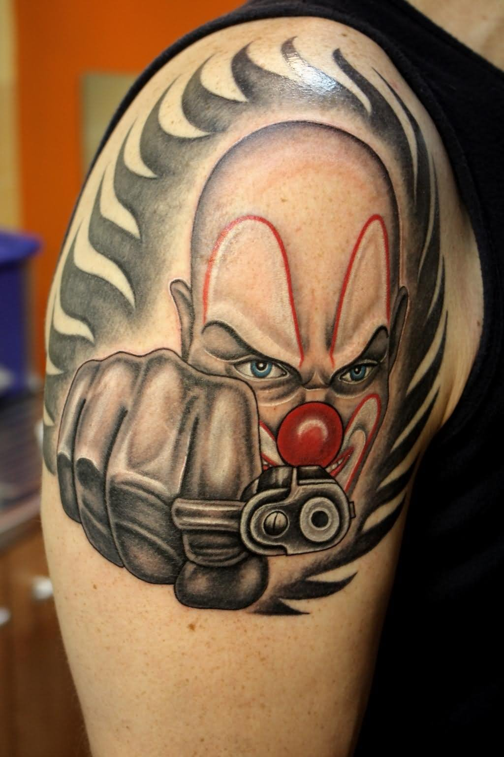 Gangster Clown Tattoo Design