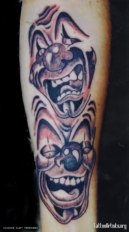 clown tattoo images designs