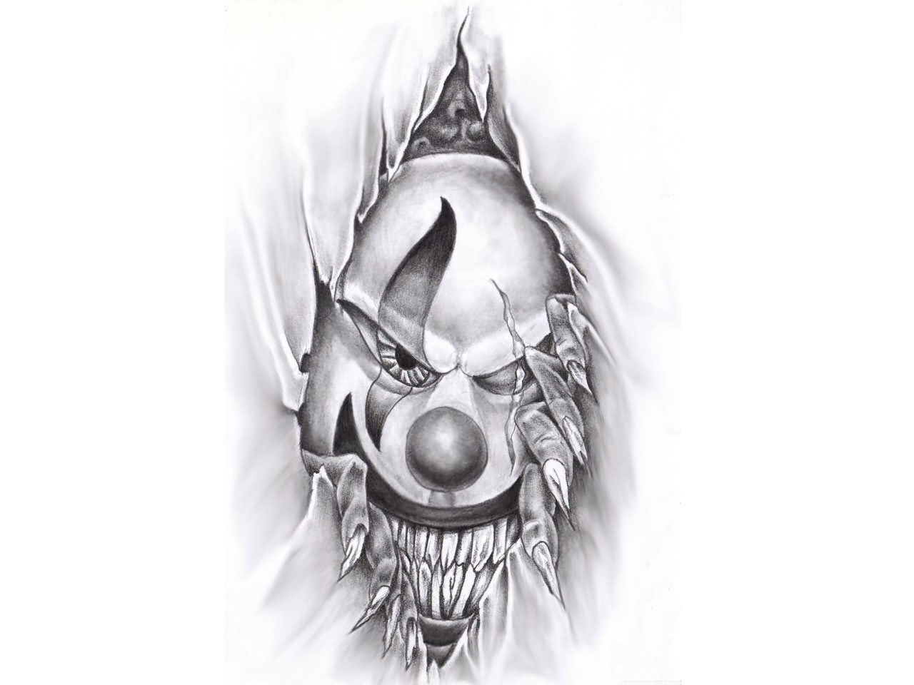 Evil Clowns Tattoo Designs Clown Images amp