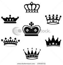 Black Crown Tattoos Designs