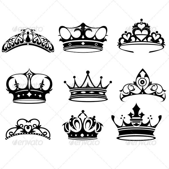 Gallery For gt Crowns Tattoos Design