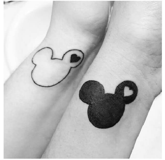 Disney Mickey Mouse Cute Tattoo On Hands