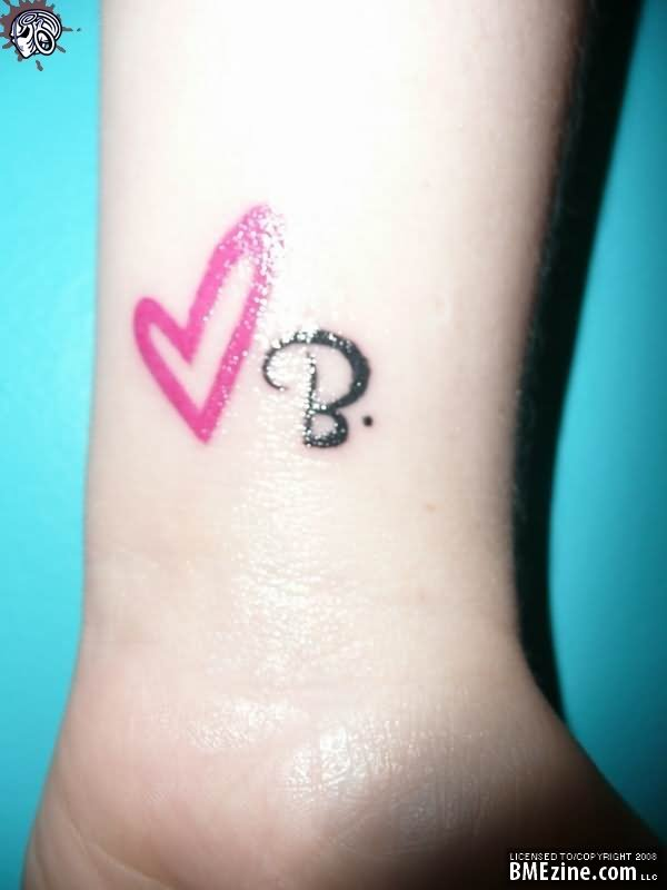 Cute tattoo images designs for Pink heart tattoo