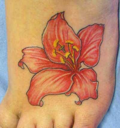 foto de Hibiscus Tattoo on Foot