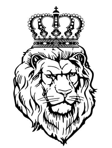 lion with crown design. Black Bedroom Furniture Sets. Home Design Ideas