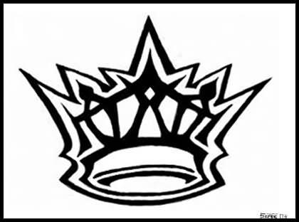 Crown Owl Tattoo Design
