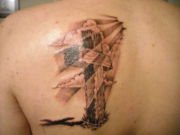 Cross With Clouds Tattoo: Cross Tattoo Images & Designs