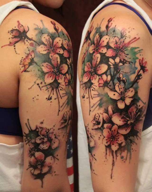 Girl Half Sleeve Tattoo