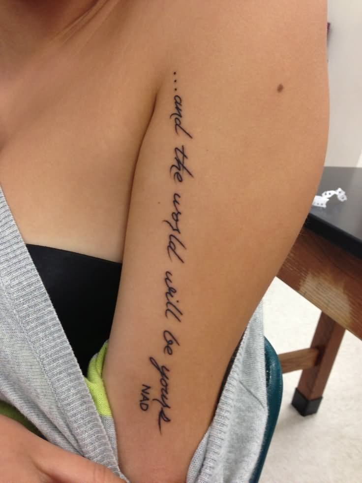 Girl Tattoo Images & Designs Quote Tattoos On Forearm For Girls
