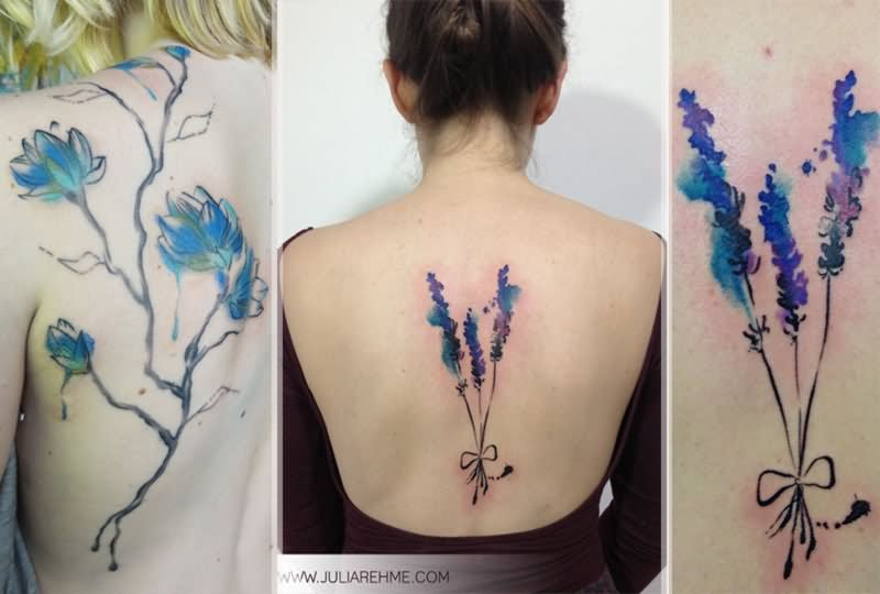 Watercolor tattoo images designs for Floral watercolor tattoo