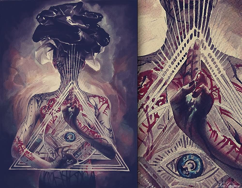 Illuminati Triangle Tattoo Triangle Tattoo...