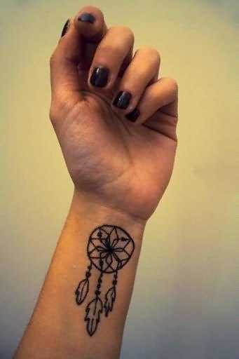 Dream Catcher Tattoo On Wrist Interesting Left Wrist Dream Catcher Tattoo For Girls