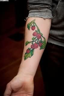 strawberry tattoo images designs. Black Bedroom Furniture Sets. Home Design Ideas