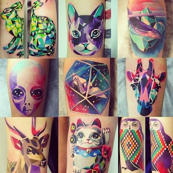 eac6d56e4 Watercolor Animals Tattoos Designs