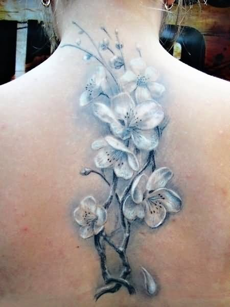 Watercolor tattoo images designs for Flower spine tattoo
