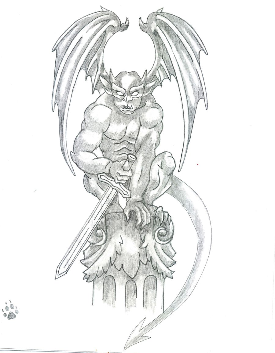 Angry Gargoyle Tattoo Design By Kat-Cappuccino