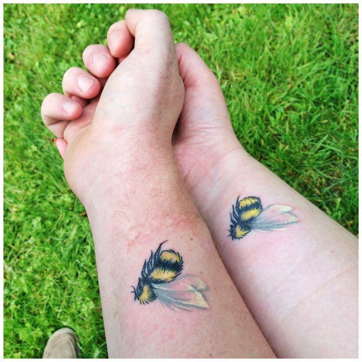 Bumblebee Couple Tattoo on Forearm