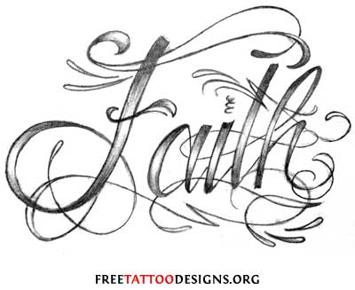 Free unique faith tattoo design