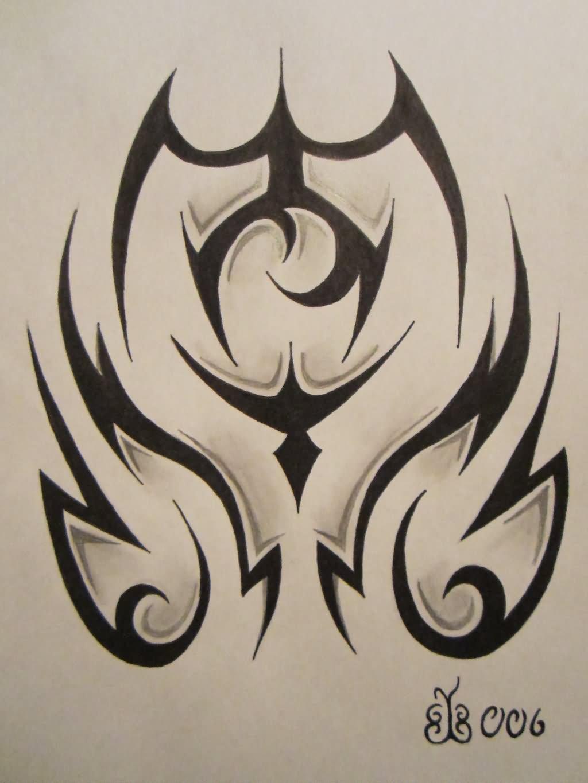 Tribal-Tattoos Grey-And-Black-Tribal-Tattoo-Design
