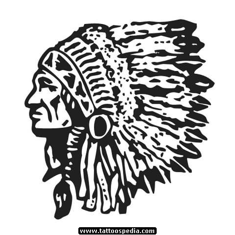 Tribal indian tattoo