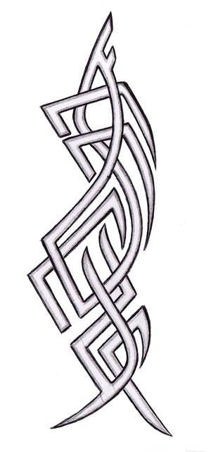 1ab83b1fe5e2a Outline Tribal Tattoo Design
