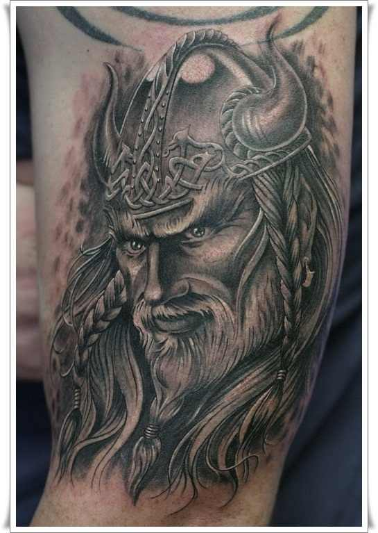 Persian warrior tattoo on arm