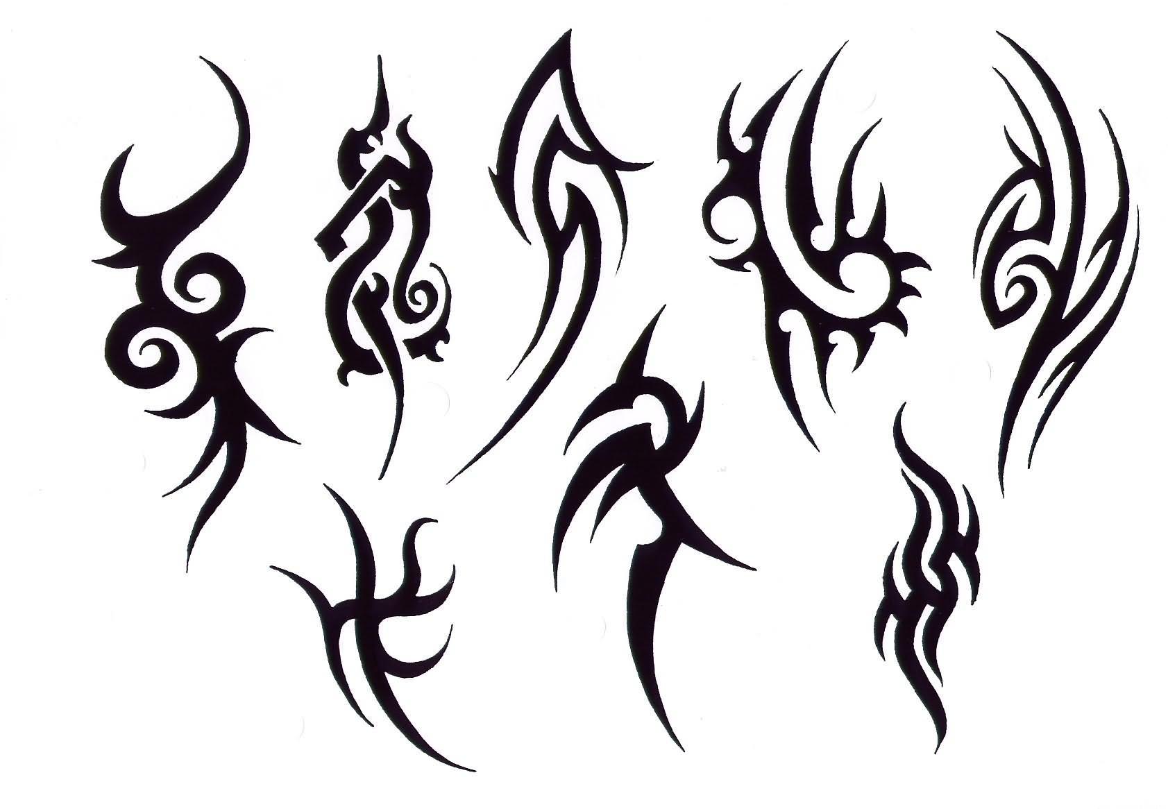 Simple Black Tribal Tattoo Design