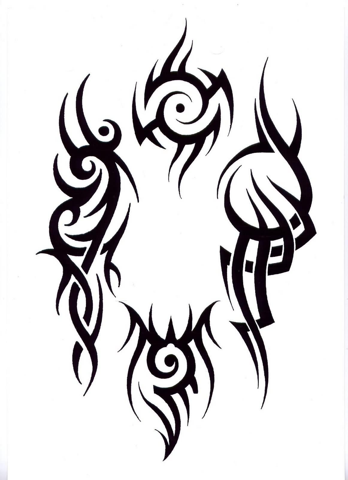 Tribal-Tattoos Superb-Black-Tribal-Tattoo-Design