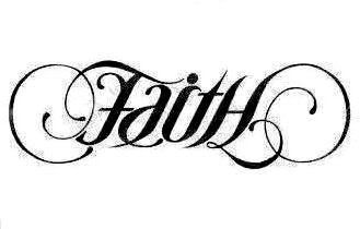 Unique faith tattoo design