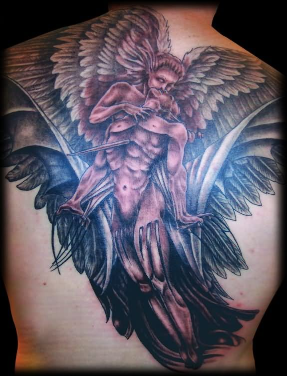 Demon tattoo images designs for Angel and demon tattoo