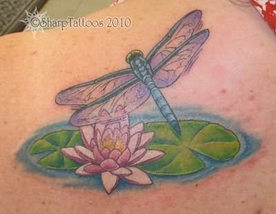 Lotus And Dragonfly Tattoo