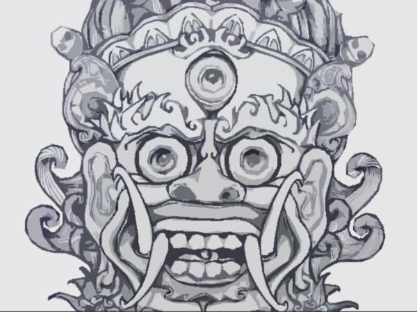 chinese demon mask tattoo design. Black Bedroom Furniture Sets. Home Design Ideas