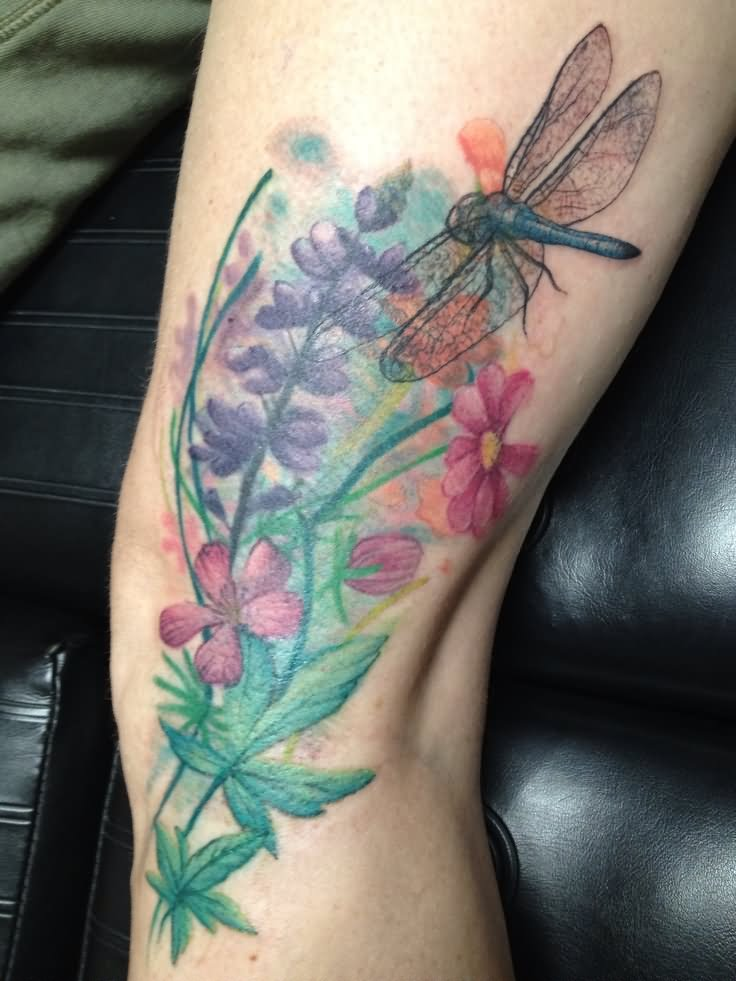 Dragon Tattoo With Flowers: Dragonfly Tattoo Images & Designs