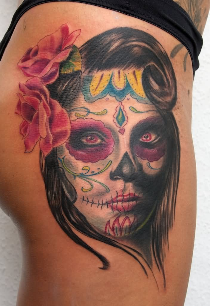 60 day of the dead tattoos you will want to get asap - 704×1024