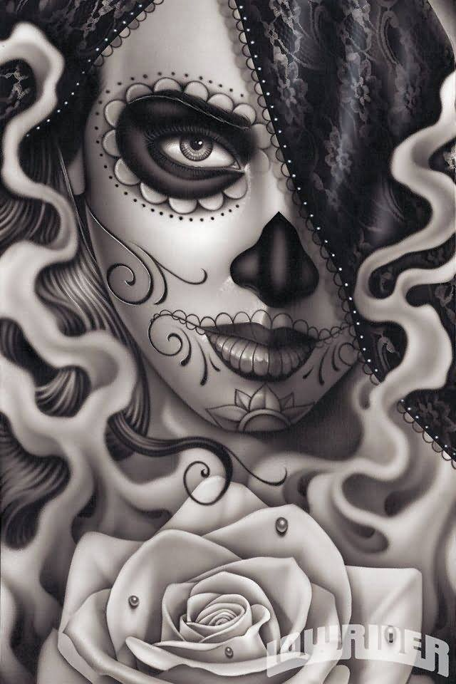 day of the dead tattoo images designs. Black Bedroom Furniture Sets. Home Design Ideas
