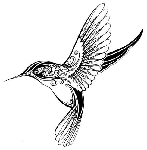 Gallery For gt Hummingbirds Tattoos Black And White