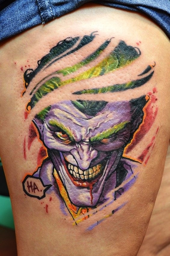 Colorful Joker Tattoo