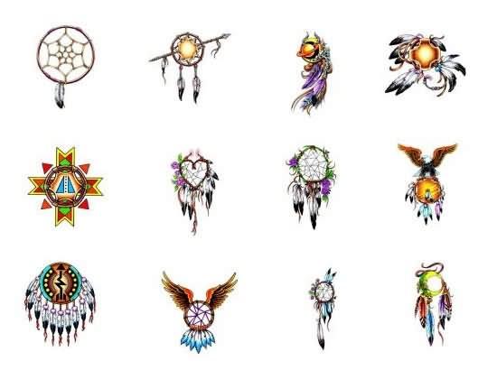 Dream Catcher Indian Tattoos Designs Enchanting Cherokee Indian Dream Catcher