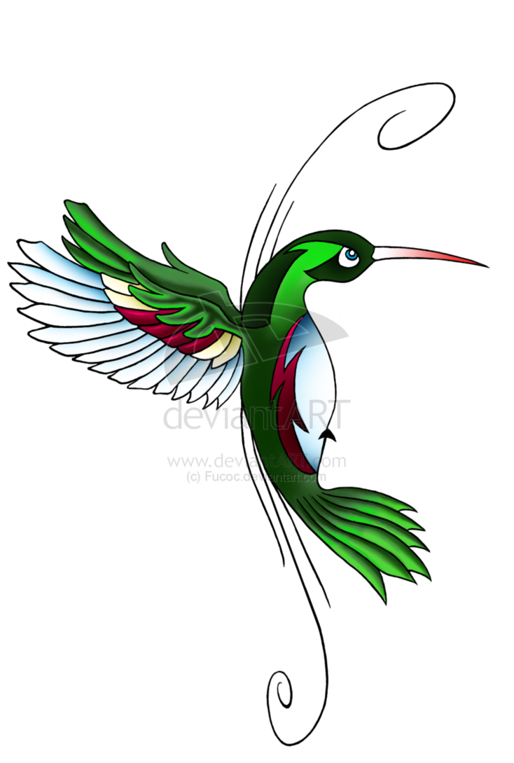 Hummingbird Tattoo On Waist