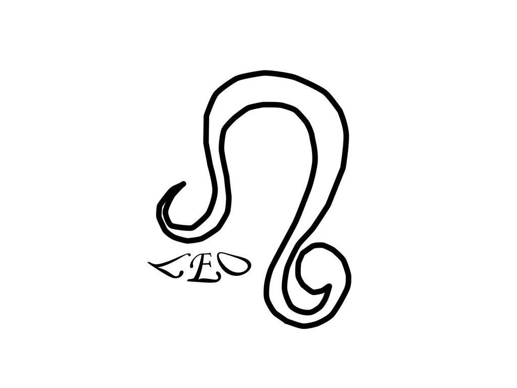 Zodiac Leo Tattoo Design