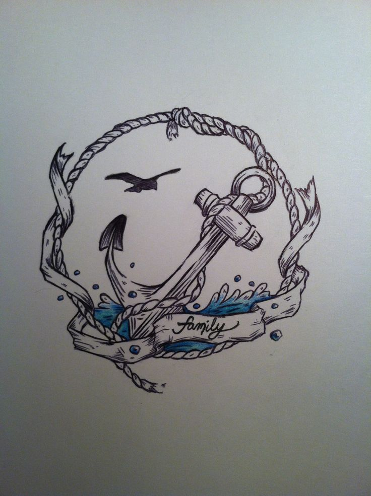 Flying Bird And Ankle Nautical Tattoo Design