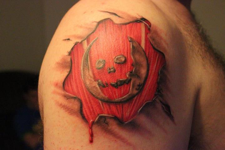 Right Shoulder Devil 3D Tattoo