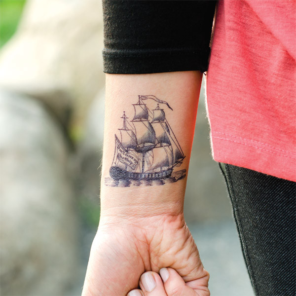 Tattly Fiona Richards Nautical Tattoo On Wrist