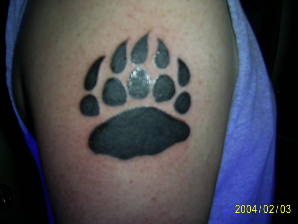 Bear Paw Black Tattoo. Similar Posts. Black And White Bear Paw Print Tattoo ...