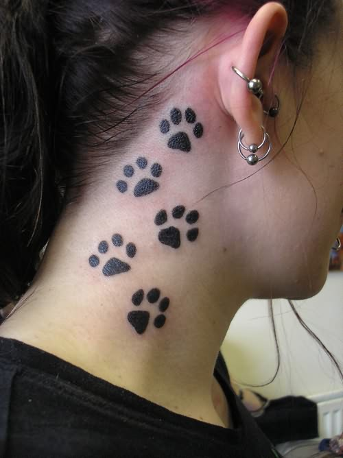 Bear Paw Tattoos For Girls