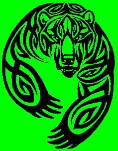 Celtic Bear Tattoo Design