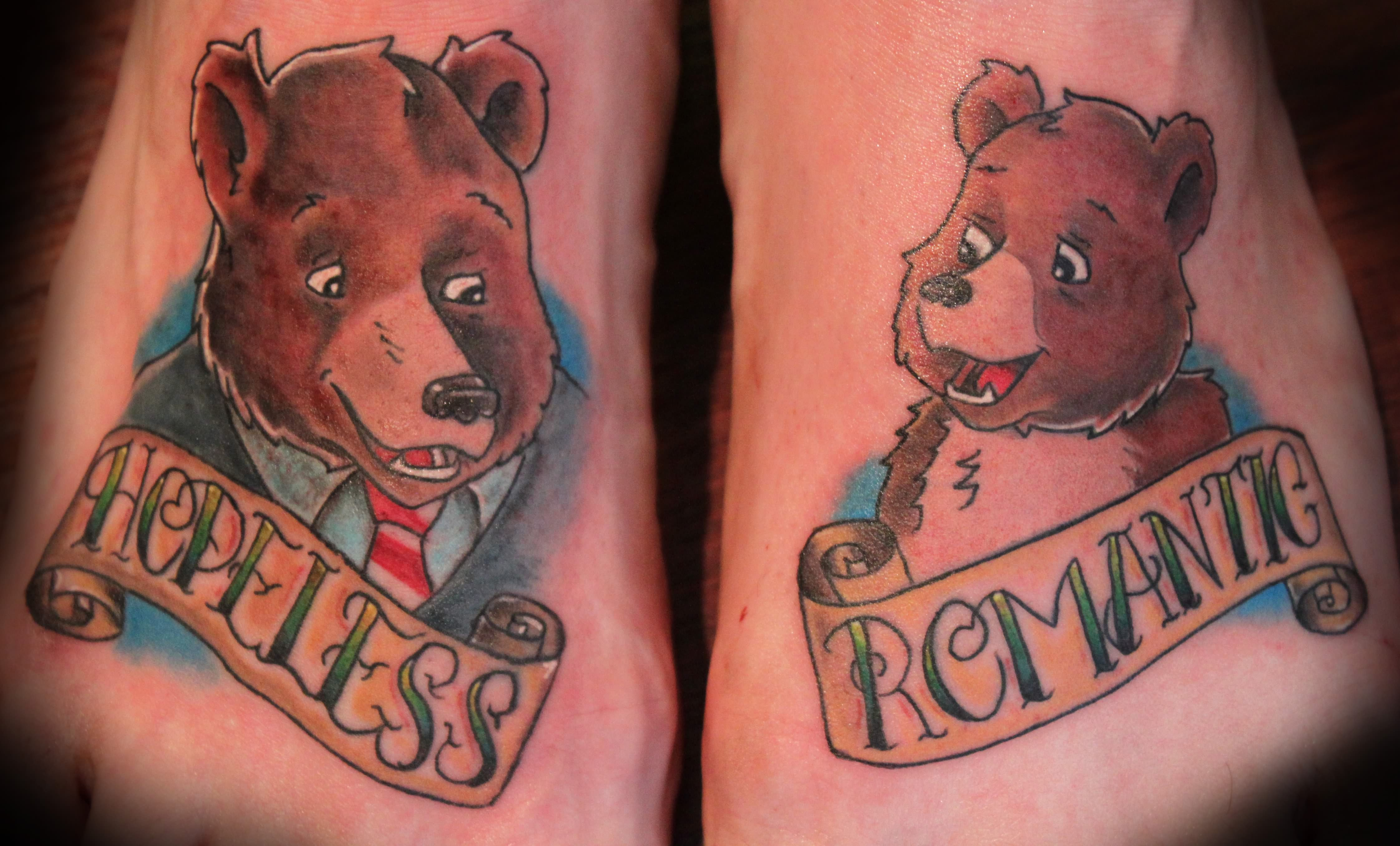 Traditional grizzly bear tattoo - photo#26